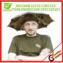 Logotipo de calidad superior impreso paraguas sombrero de los niños