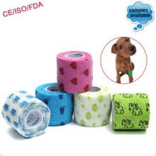 Vendaje cohesivo impreso con envoltura veterinaria flexible impermeable