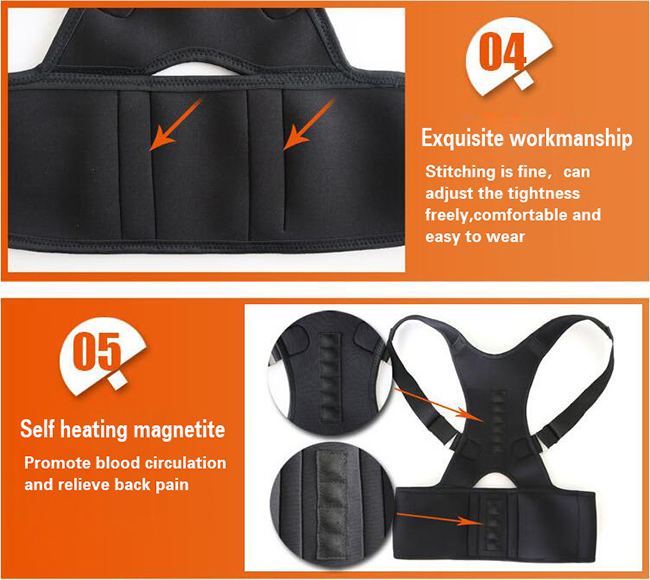 self heating posture corrector
