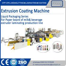 Machine de revêtement par extrusion de série d'emballages liquides