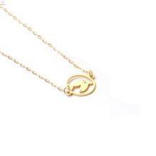Gargantilla al por mayor del acero inoxidable de la joyería de las mujeres El collar de los pescados del zodiaco