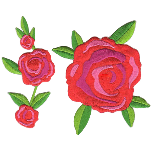 Custom Flor 3D Planta Embroidery Badges