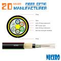 Todo dieléctrico autoportante 48 núcleos ADSS Cable de fibra óptica 9 / 125um G652D PE Recubrimiento de la cubierta 100 metros