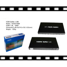 3D Supported 1080P 1X8 HDMI Splitter