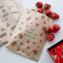 strawberry food standard paper bag