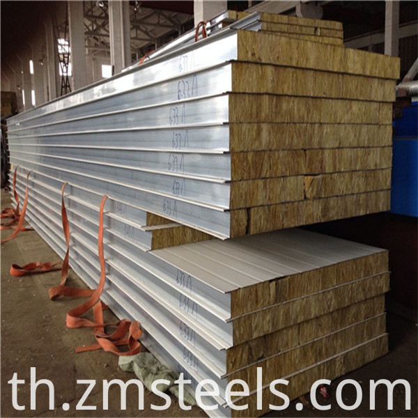 75mm rock wool sandwich panel
