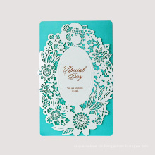 Kundengebundene Entwurfs-Papier-hohle Hochzeits-Einladungs-Karte