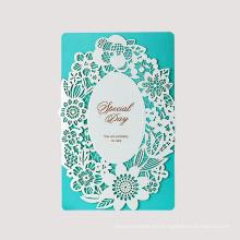 Tarjeta de invitación de boda hueco de papel de diseño personalizado
