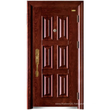 Red Walnut Six Panel Security Door