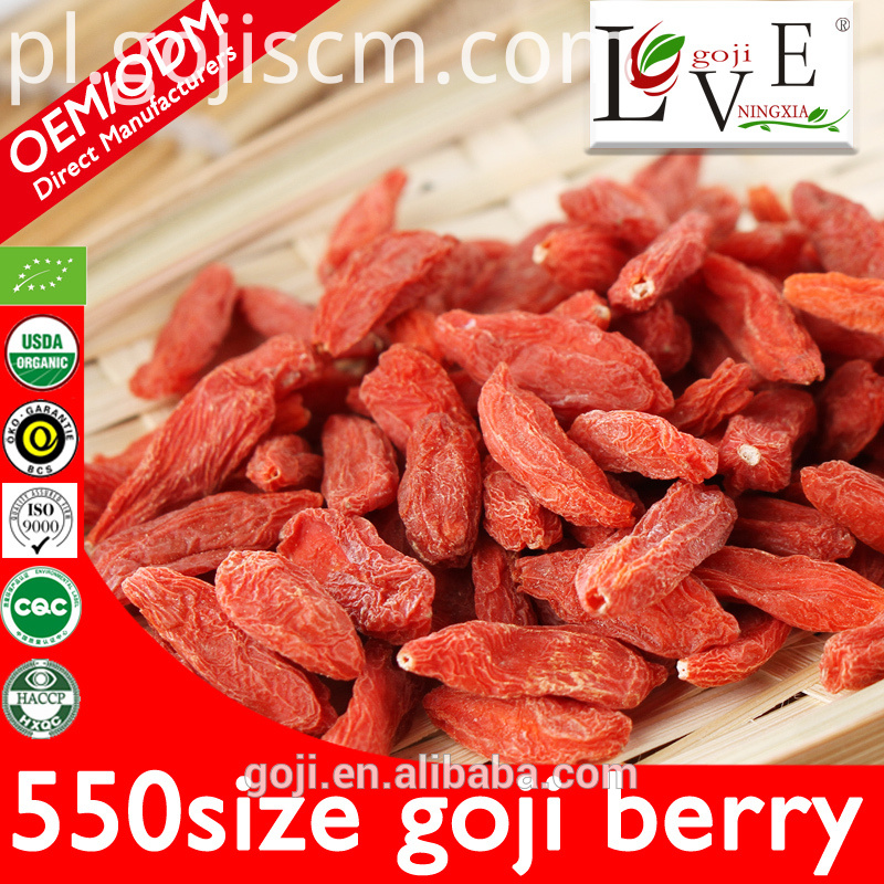 550granule Pure Plump Goji Berries