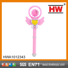 Funny 34CM magic fairy stick with light and music princess wand