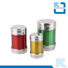 Colorido multi-tamaño de acero inoxidable de sal y pimienta Condiment Spice Jar Set