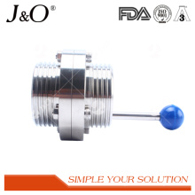 Sanitary Male Thread Butterfly Valve with Stainless Steel Handle
