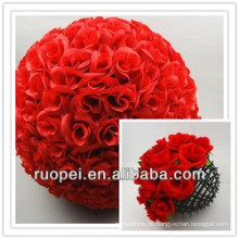 2015 Yiwu Großhandel Hochzeit Dekorative Seide Künstliche Ball Blumen