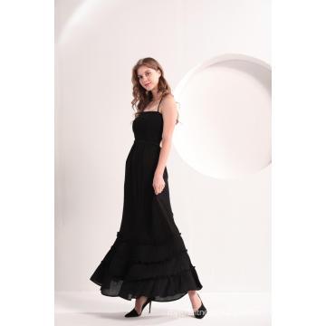 Women's Black Beach Casual Maxi Dress