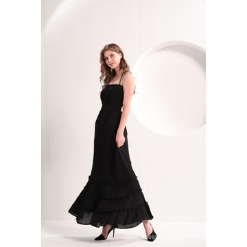 Женское черное пляжное повседневное платье макси