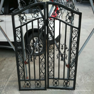 2018 powder coated used steel wrought iron garden gate