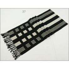 Men′s Womens Unisex Reversible Cashmere Feel Winter Warm Checked Diamond Printing Thick Knitted Woven Scarf (SP810)
