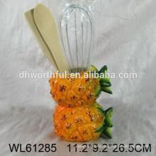 2015 новый дизайн керамической посуды из ананаса