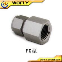 Conexão fêmea igual do tubo do conetor do aço inoxidável