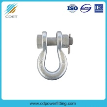 OEM for Link Fitting For Substation Shackle with Clevis Pin for Overhead Line supply to France Metropolitan Wholesale