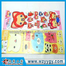 Custom 3D decals for kids, promotional plastic collectable stickers