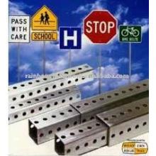 Heiß getauchte verzinkte Stahlschildpost