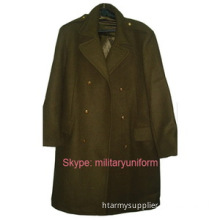 Military Great Coat Wool Overcoat