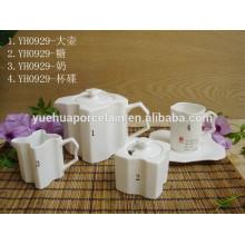 2015 Новый дизайн Дешевый набор керамических чайников для кафе