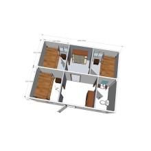 Module à conteneur Chambre simple et double (CH 15017)