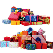 Boîte à papier cadeau avec le logo du client pour l'emballage (SW207)