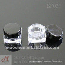 SF031 Square plastic empty cosmetic jars