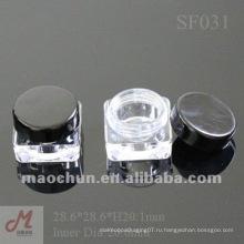 SF031 Квадратные пластиковые пустые косметические банки