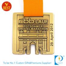 Wholesale Custom Antique Brass Sport Running Marathon Medal