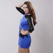 Hot vendendo europeu rodada colar de couro empunhando vestidos para mulheres
