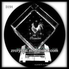 K9 Животных знаков лазерной петух внутри кристалла