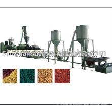 Línea de producción de granulación de plástico y madera