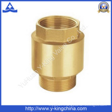 Brass Spring Check Valve with Brass/Plastic Core (YD-3002)