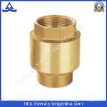 Válvula de retención de cobre amarillo de la bomba de agua de la garantía de calidad con la base de cobre amarillo (YD-3002)