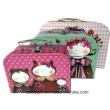 Cute Design Printing Child Toy Storage Packaging Suitcase Box