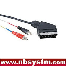 Enchufe Scart macho a 2x conector RCA macho cable