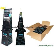 Présentoir trapézoïdal recto-verso, support de comptoir en carton, présentoir en papier (B & C-A073)