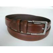 Fashion Men's Leather Belt with Reversible Buckle