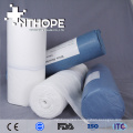 Medical supply absorbent unbleached cotton fabric large wool gauze rolls