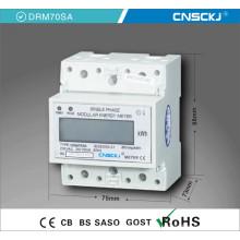 Visualizador LCD monofásico de monitor DIN Monitores eletrônicos de energia