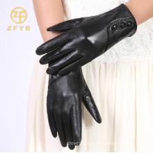 Best sale fashion type ladies sheep crust leather gloves in bulk
