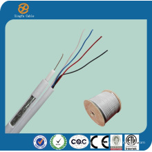 China RG6 Quad Kabel + UTP Cat5e Composite Kabel
