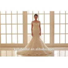 2017 новый классический стиль русалка свадебное платье тюль невесты