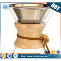 China Lieferant Edelstahl gießen über Kaffeefilter Gold Titan beschichteten Kaffeesieb