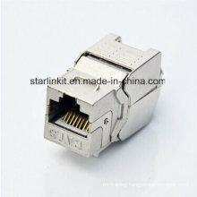 CAT6A FTP Shielded Tooless Keystone Jack 180 Degree